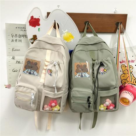 cute cartoon bear large capacity backpack wholesale nihaojewelry  NHTG417874's discount tags