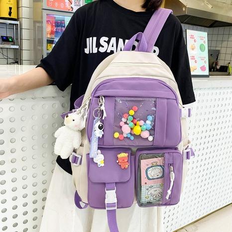 Venta al por mayor nihaojewelry de la mochila del color del contraste del color del caramelo de la historieta coreana NHTG417876's discount tags