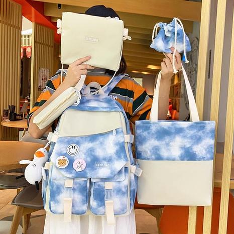 Mode Tie-Dye große Kapazität Canvas Tasche fünfteiliges Set Großhandel Nihaojewelry NHTG417880's discount tags