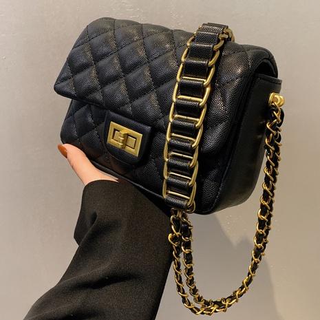 bolso de mensajero de un solo hombro con cadena de rombos retro al por mayor nihaojewelry NHTG417889's discount tags