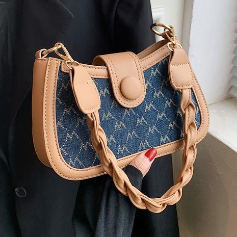 bolso de la axila del mensajero de un solo hombro con impresión en contraste retro al por mayor nihaojewelry NHAV418013's discount tags