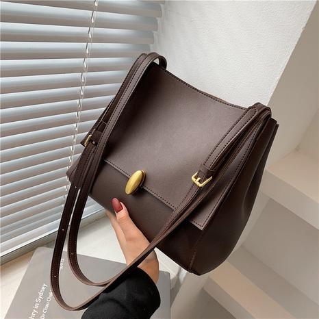 Moda coreana color sólido doble correa de hombro bolso de mano al por mayor nihaojewelry NHAV418014's discount tags