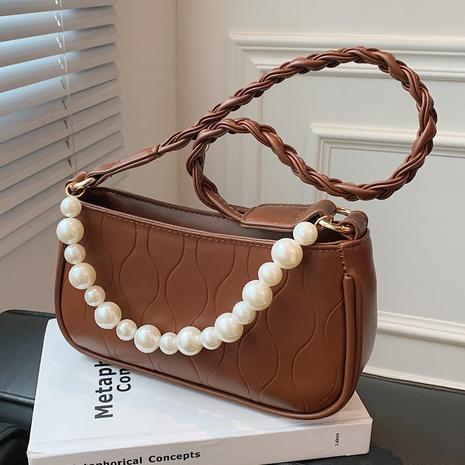 simple cadena de perlas retro pequeño bolso cuadrado al por mayor nihaojewelry NHAV418015's discount tags