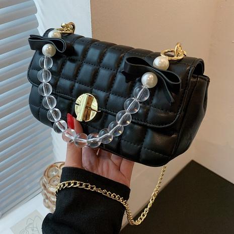 Moda rombo cadena transparente pequeño bolso cuadrado de un solo hombro al por mayor nihaojewelry NHAV418016's discount tags