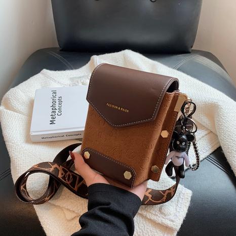 letra retro correa de hombro ancha pequeña bolsa cuadrada al por mayor Nihaojewelry NHAV418018's discount tags