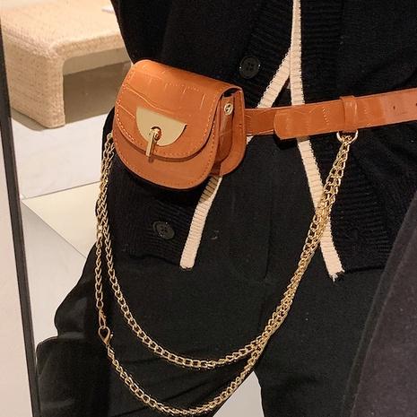nueva moda contraste color cadena salvaje mini bolso de cintura al por mayor nihaojewelry NHAV418026's discount tags
