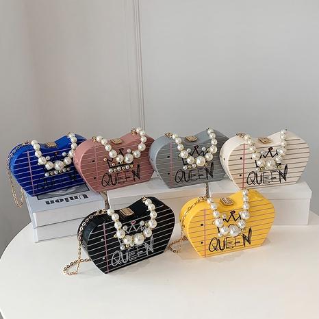 bolso de mensajero de cadena de perlas de color caramelo de moda al por mayor nihaojewelry NHAV418028's discount tags