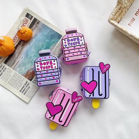 Bolso en forma geométrica del color del caramelo de la historieta del silicón coreano al por mayor nihaojewelry NHAV418029's discount tags