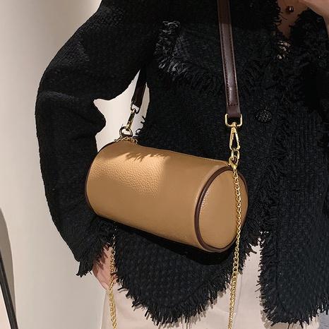 Bolsos cilíndricos de hombro de color sólido retro de moda al por mayor nihaojewelry NHAV418059's discount tags