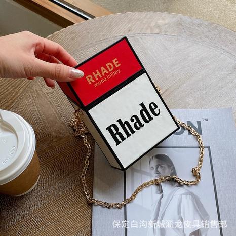 moda caja cadena hombro pequeño cuadrado contraste color bolsa al por mayor nihaojewelry NHAV418064's discount tags