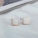 Korean style color square stud earrings wholesale nihaojewelry  NHBP418077