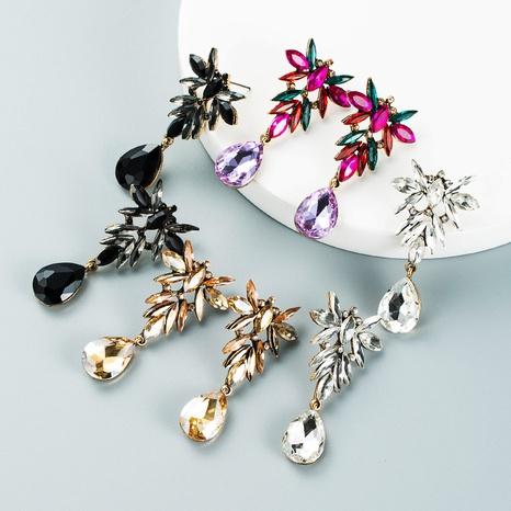 neue Art und Weise tropfenförmige Anhängerlegierung Diamantohrringe Großhandel Nihaojewelry NHLN418197's discount tags