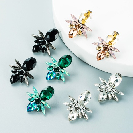Art und Weiselegierungsglasdiamant geometrische hängende Ohrringe Großhandel Nihaojewelry NHLN418202's discount tags