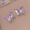 Korean multicolor gradient butterfly earrings wholesale Nihaojewelry  NHBW418207
