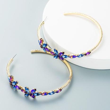 stained glass diamond flower earrings wholesale nihaojewelry  NHLN419873's discount tags