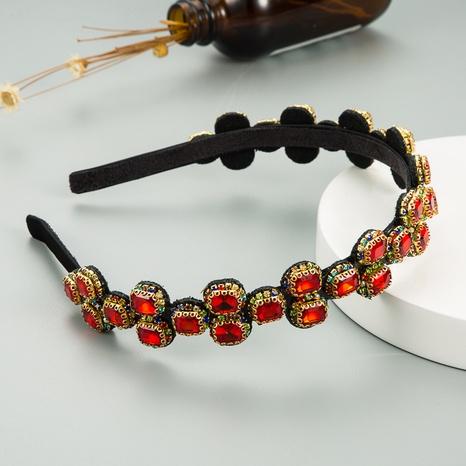 retro thin side geometric diamond hair band wholesale Nihaojewelry  NHLN419845's discount tags