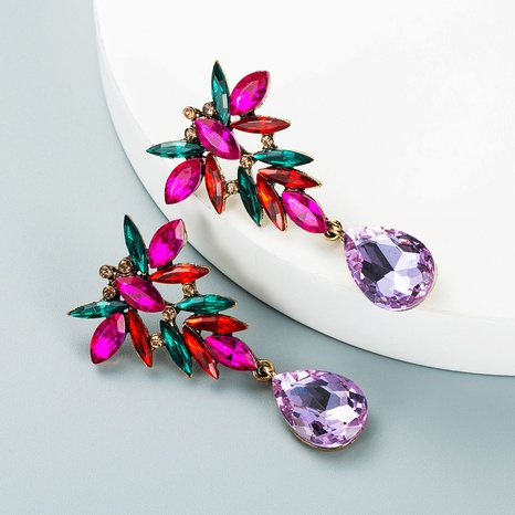 new fashion geometric drop-shaped pendant alloy earrings wholesale Nihaojewelry  NHLN419830's discount tags