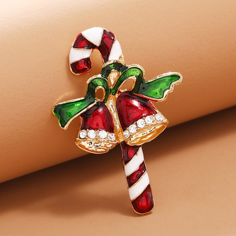Lindo broche de cetro de campanas de Navidad accesorios al por mayor Nihaojewelry NHKQ418555's discount tags