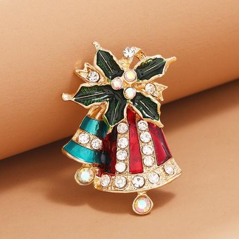 Broche de campana de aceite de goteo de diamantes de moda navideña al por mayor Nihaojewelry NHKQ418558's discount tags