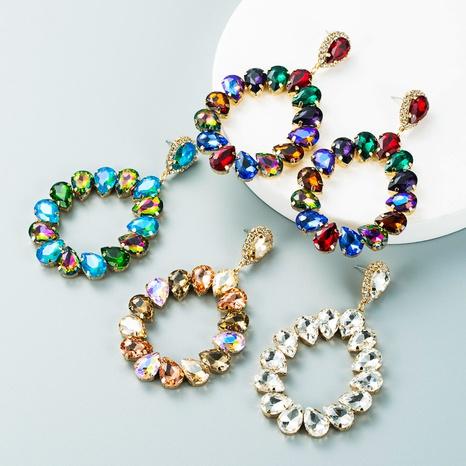 Pendientes en forma de gota de diamantes de cristal de aleación de moda al por mayor Nihaojewelry NHLN418958's discount tags