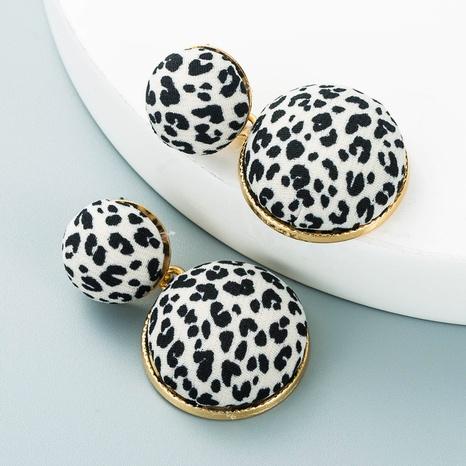 Pendientes circulares multicapa de tela con patrón de leopardo de aleación retro al por mayor Nihaojewelry NHLN418965's discount tags