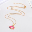 Retro Devils Eye Color Diamond Pendent Necklace Wholesale Nihaojewelry  NHGO419004
