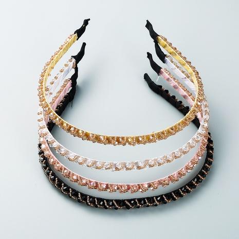 4 pcs of thin-edged crystal headband wholesale Nihaojewelry  NHLN419783's discount tags