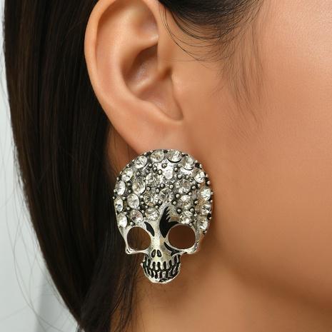 Halloween hohle Schädelohrringe Großhandel Nihaojewelry NHYAO419776's discount tags