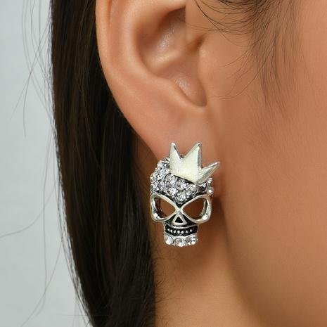 Halloween Schädelkrone Ohrringe Großhandel Nihaojewelry NHYAO419775's discount tags