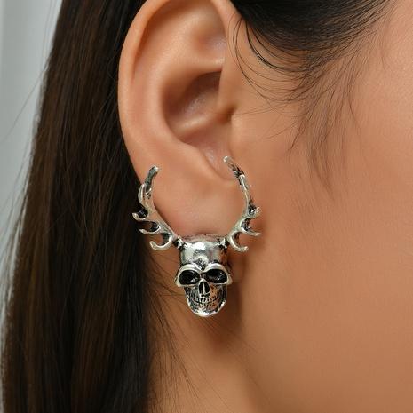 Halloween Legierung Geweih Schädel Ohrringe Großhandel Nihaojewelry NHYAO419772's discount tags