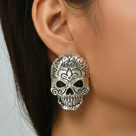 Halloween-Muster-Schädel-Ohrringe Großhandel Nihaojewelry NHYAO419760's discount tags