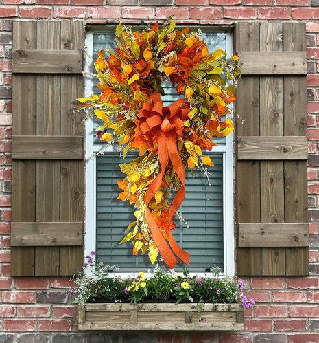 Harvest Festival Simulation Maple Leaf Wreath Door Hanging Wholesale Nihaojewelry  NHGAL419273's discount tags