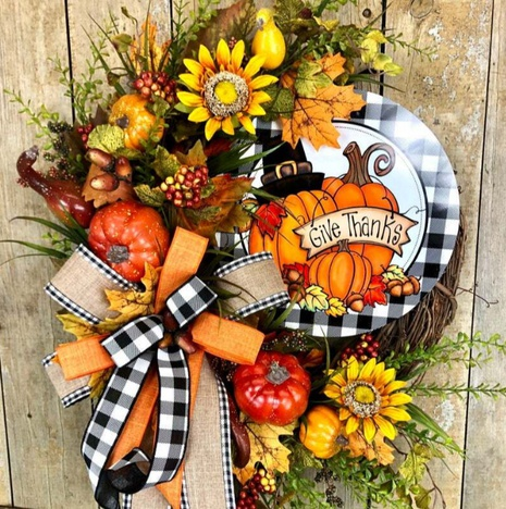 Thanksgiving Day Sunflower Pumpkin Garland Simulation Plant Door Hanging Wholesale Nihaojewelry  NHGAL419274's discount tags