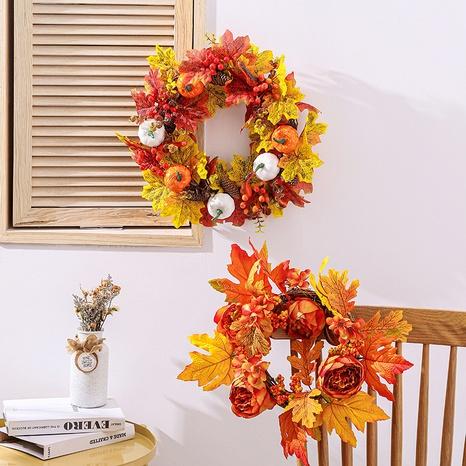 Harvest Festival Maple Leaf Vine Wreath Props Wholesale Nihaojewelry NHGAL419278's discount tags