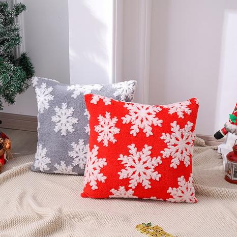 Christmas Snowflake Print Pillowcase Wholesale Nihaojewelry   NHGAL419281's discount tags