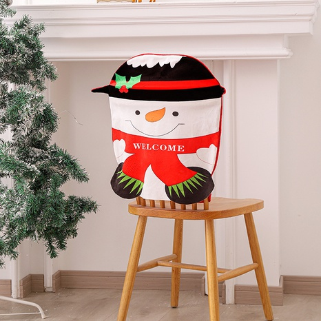 Muñeco de nieve de dibujos animados, mesa de comedor y silla, respaldo, decoración navideña, venta al por mayor, joyería Nihao NHGAL419288's discount tags