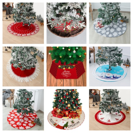 new snowflake elk printing plush Christmas tree apron wholesale Nihaojewelry  NHGAL419289's discount tags