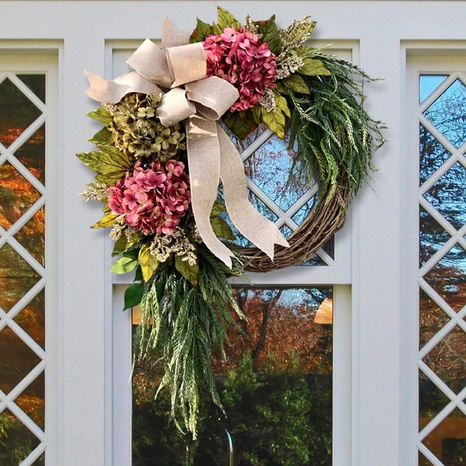 Garden Farmhouse Artificial Garland Door Hanging Front Ornaments Wholesale Nihaojewelry  NHGAL419290's discount tags
