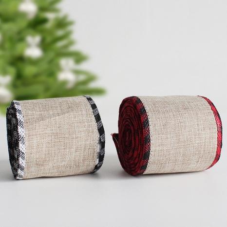 5m Noël lin treillis ruban décoration de vacances accessoires en gros Nihaojewelry NHGAL419291's discount tags
