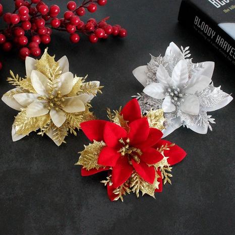 Ornement de fleur de simulation en plastique à trois couches de Noël en gros Nihaojewelry NHGAL419301's discount tags