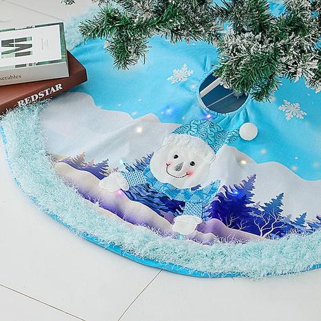New led blue luminous plush tree Christmas tree skirt wholesale Nihaojewelry  NHGAL419306's discount tags