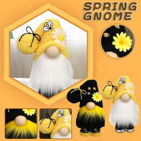 Bee Festival Faceless Doll Standing Doll Holiday Gift Ornament Wholesale Nihaojewelry  NHGAL419311's discount tags