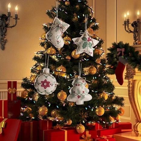 Nueva Navidad Adornos colgantes de impresión de lino al por mayor Nihaojewelry NHGAL419324's discount tags