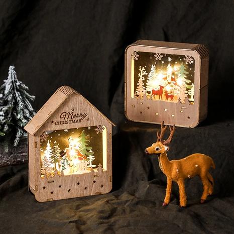Décoration de bureau en bois lumineux de la cabine du père Noël en gros Nihaojewelry NHGAL419332's discount tags