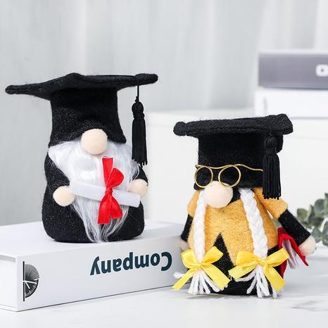 Graduation season black doctor hat faceless doll decoration wholesale Nihaojewelry  NHGAL419335's discount tags