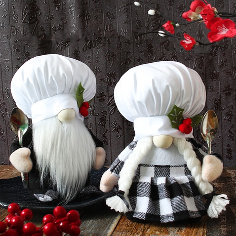 Creative Dwarf Chef Doll Festive Plush Doll Wholesale Nihaojewelry  NHGAL419345's discount tags