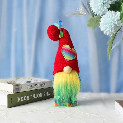 Heart Rainbow Dwarf Doll Festive Decoration Props Wholesale Nihaojewelry  NHGAL419346's discount tags