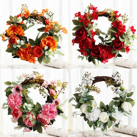 Simulation Peony Flower Door Hanging Holiday Window Decoration Wholesale Nihaojewelry  NHGAL419348's discount tags