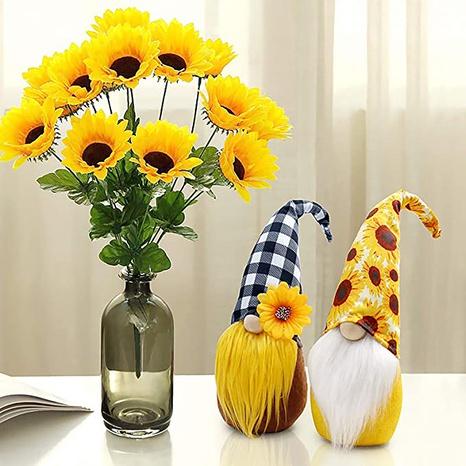 Sunflower Printing Plush Beard Faceless Doll Decoration Wholesale Nihaojewelry  NHGAL419350's discount tags