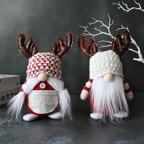 Christmas antlers white beard faceless doll ornaments wholesale Nihaojewelry  NHGAL419355's discount tags